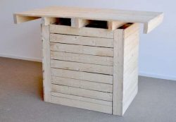 For use with bar stools, high table homemade from pallets.