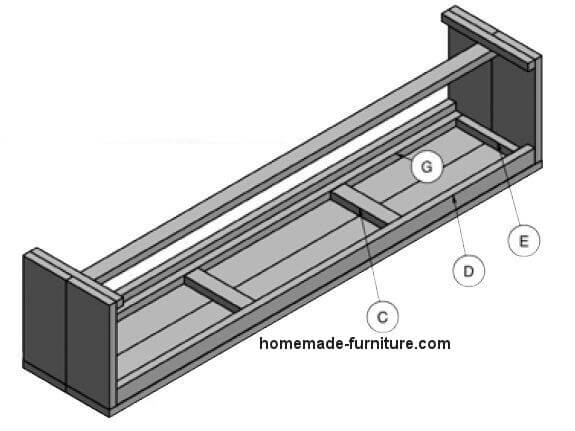 Do it yourself manuals for a basic wooden bench.
