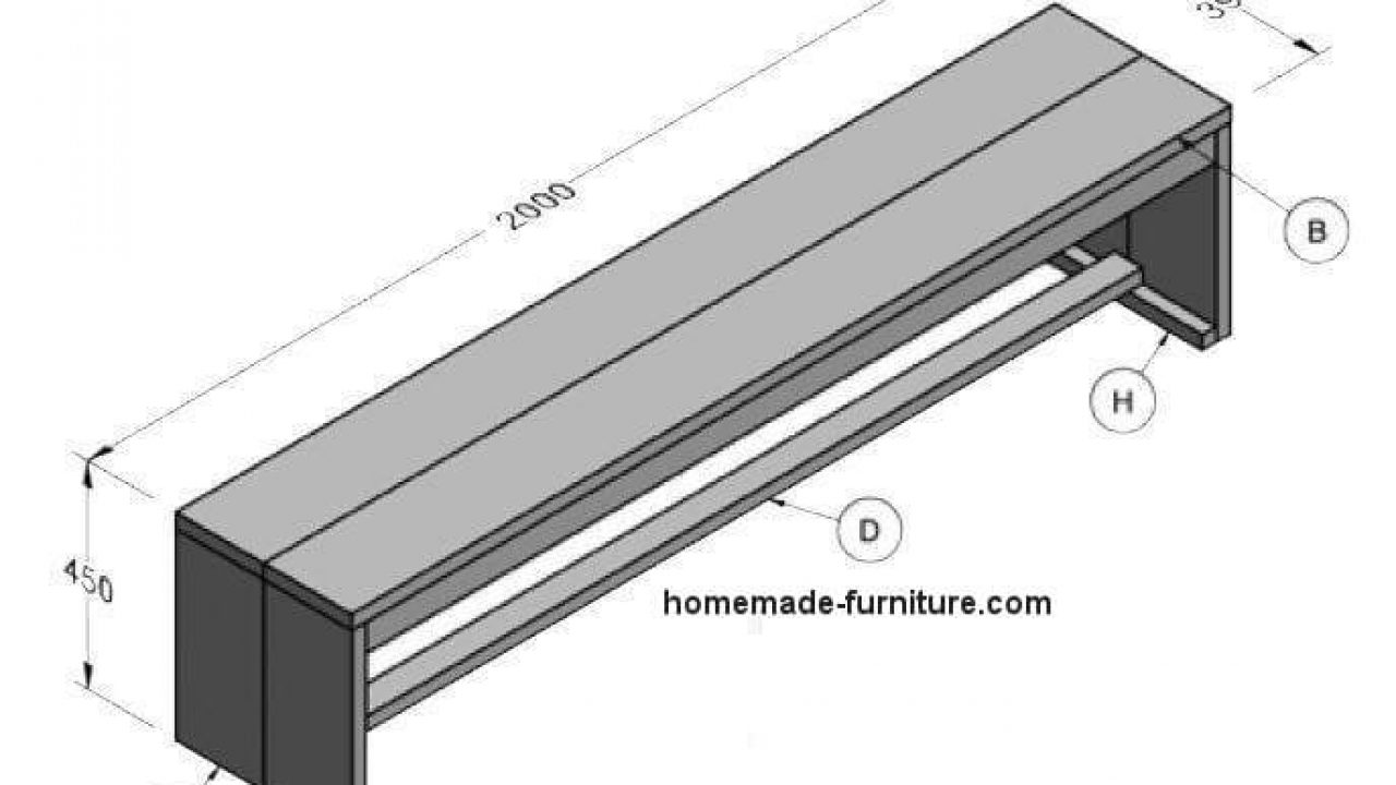 Wooden Bench Construction Plans For Woodworking With Scaffolding Planks