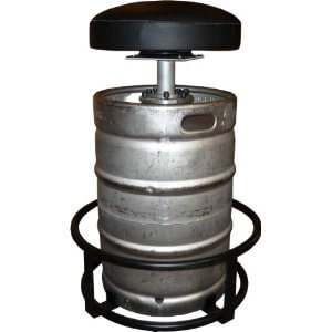 Good example how to make bar stools out of a repurposed beer barrel.