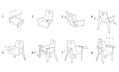 How to make chairs from repurposed traffic signals.