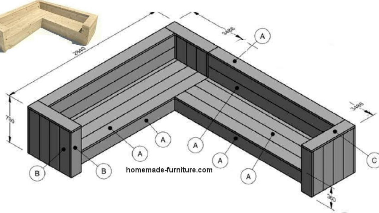 Picture of: Corner Bench Woodworking Instructions Free Lounge Furniture Building Plan
