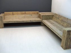 Large bench for placement in a corner.