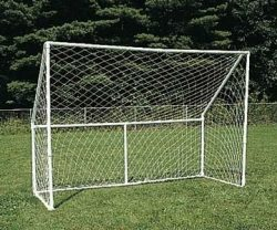 Goal for soccer or hockey, homemade with scaffolding pipes.