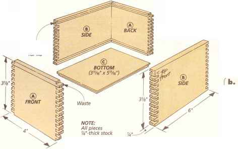 All corners of the box are connected with a box joint.