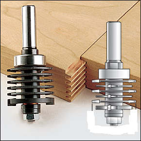 Finger joint router bits.