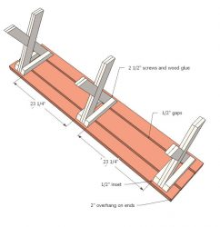 Construction of simple garden benches.