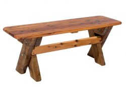 Garden bench made from reclaimed timber.