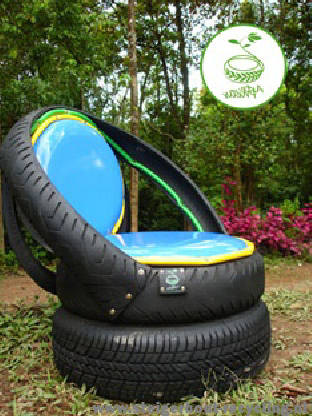 Repurposed Tires For Homemade Chairs Recycled And