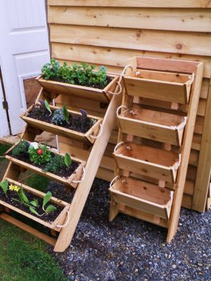 Woodworking example for a planter with several different levels.