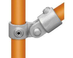 Scaffolding pipe hinge for aluminium tubes.