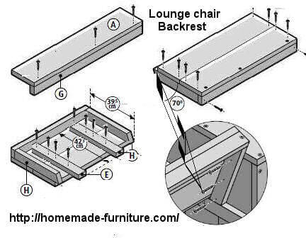 How to make the backrest for a wooden lounge chair.