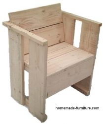 Slightly different model homemade chair of scaffold wood.  sc 1 st  Homemade furniture & Chairs and seats made from reclaimed wood how to make a cheap chair.