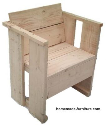 Slightly different model homemade chair of scaffold wood.