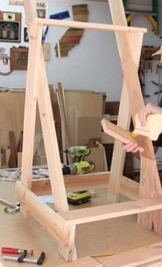 Example how to make a cascading garden planter rack 3 tier type.