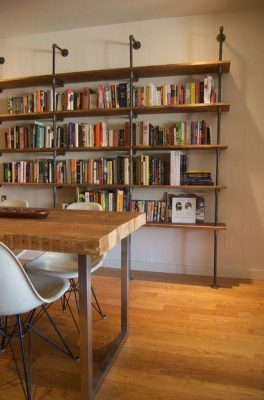 Large bookshelf in industrial style.