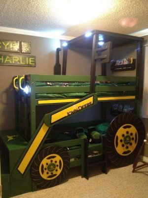 John deere bed for children, free construction drawings.