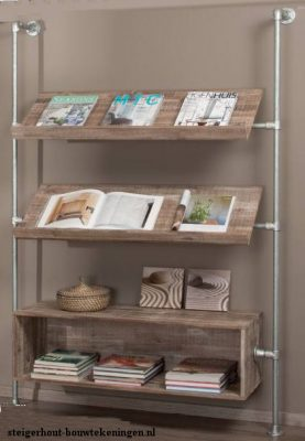 Wall fitted rack for magazines and other literature.
