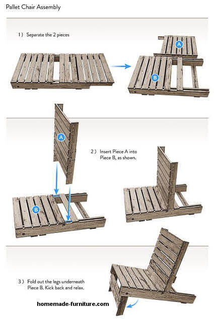 Pallet Chair Free Construction Drawings And Building Plan