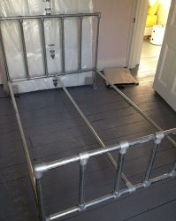 How to make frames for double beds from metal pipes.