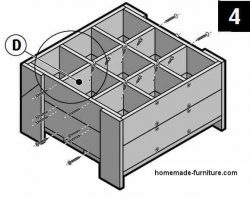 How to make a plant box from scaffolding planks, urban garden design.