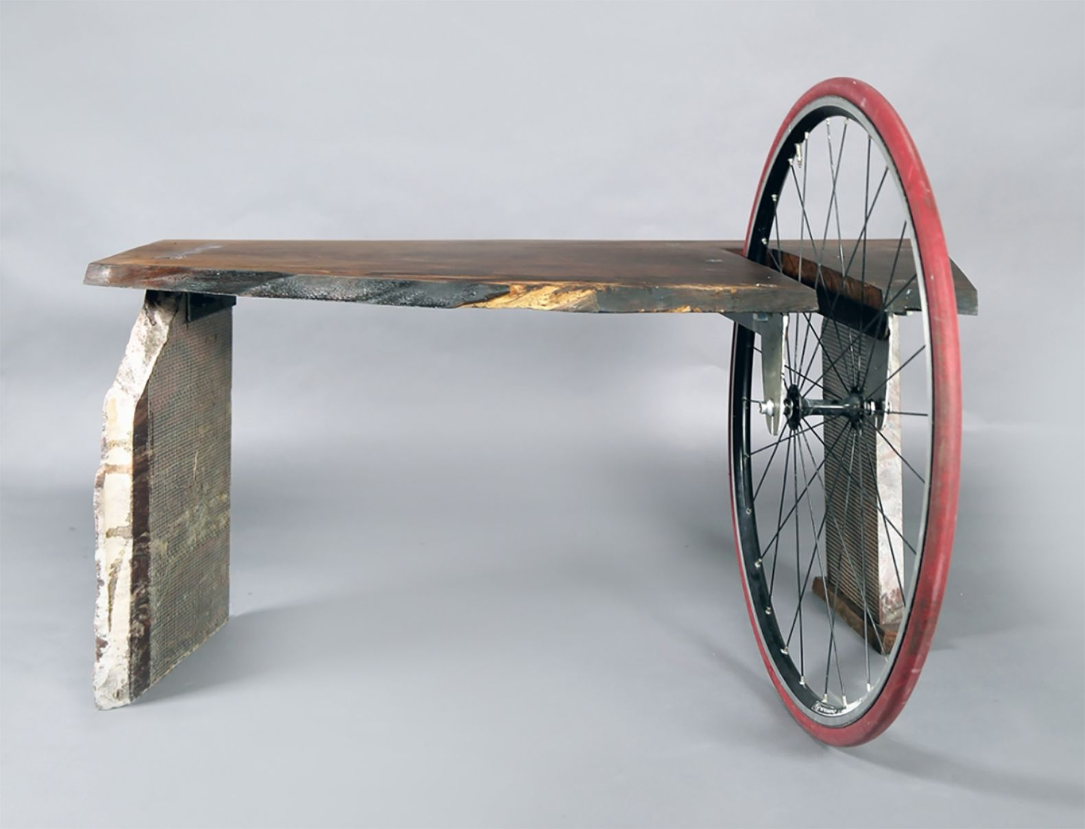 Example Of Re  Cycling Of Otherwise Worthless Reclaimed Materials Into Artsy  Furniture.