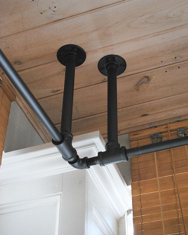 Extra supports to suspend the heavy weight of curtains.