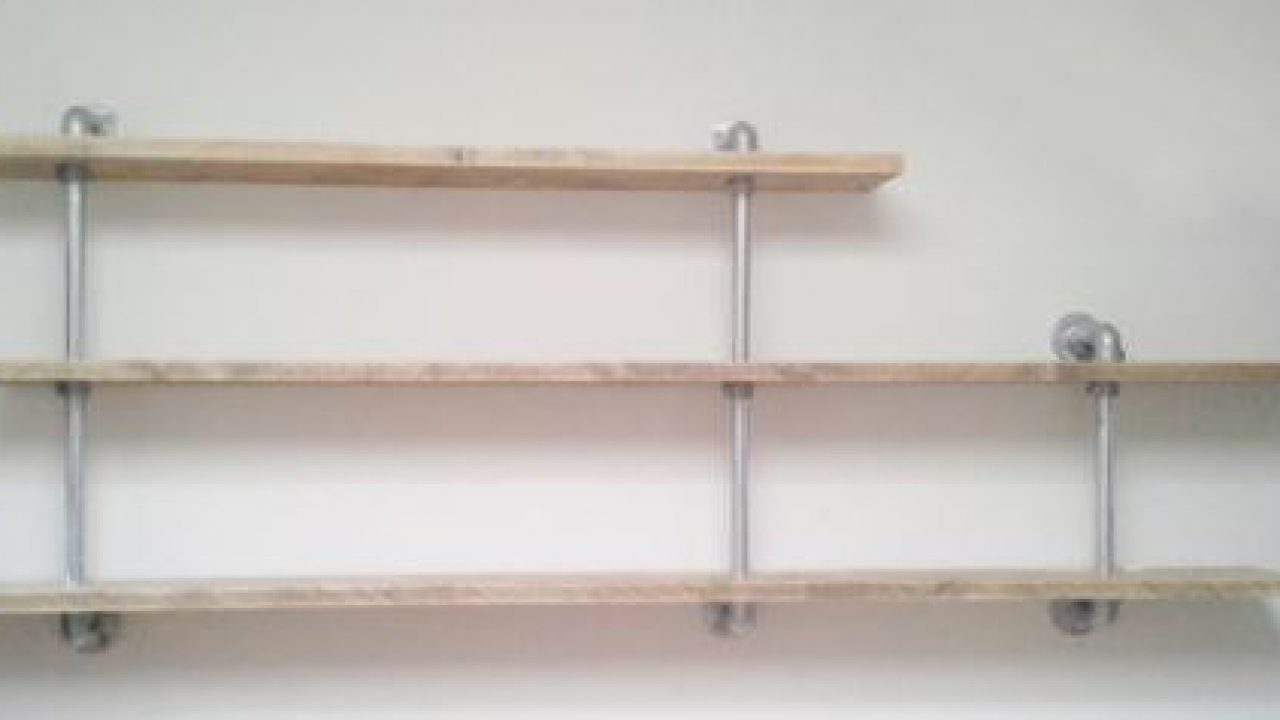 Shelves And Strong Frames With Tubes And Clamps Reclaimed Scaffolding