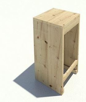 Easy DIY model for a homemade barstool.