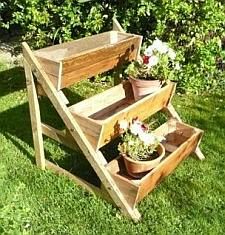How to make a planter support for a cascading garden.