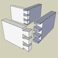 The through dovetail is visible from both sides.