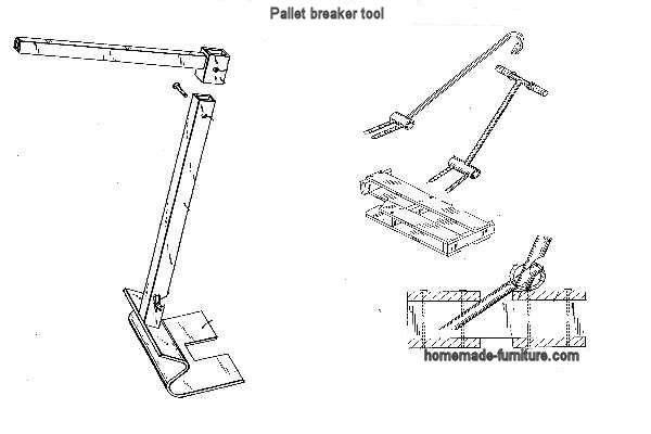 Construction drawing to make a pallet breaker tool.