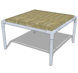 Coffeetable made from repurposed scaffolding.