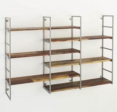 Shelves for storage of books.
