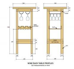 How to make a wine rack and bar table.