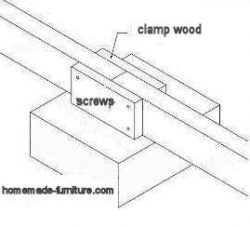 Wood clamp to make beams and planks longer.