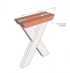 How to make an X frame for picnic tables.