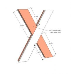 Make an X from the crossed timber.